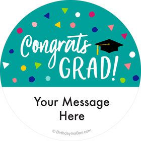 Yay Grad Personalized Stickers (Sheet of 12)