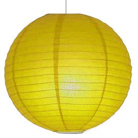 "Yellow 10"" Paper Lantern Decorations (Each)"