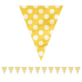 Yellow Dots 12' Flag Banner Decoration (Each)