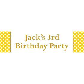 Yellow Dots Personalized Banner (Each)