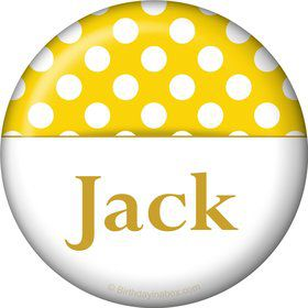 Yellow Dots Personalized Magnet (Each)