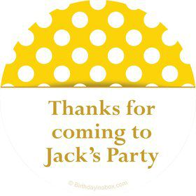 Yellow Dots Personalized Stickers (Sheet of 12)