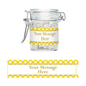 Yellow Dots Personalized Swing Top Apothecary Jars (12 ct)