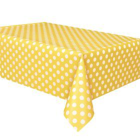Yellow Dots Table Cover (Each)