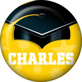 Yellow Grad Personalized Mini Button (Each)