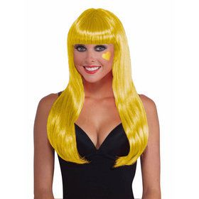 Yellow Long Wig