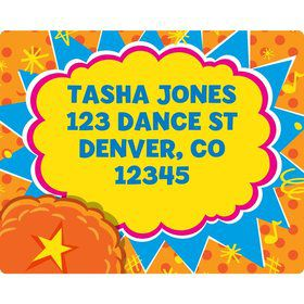 Yo Yo Dance Party Personalized Address Labels (Sheet Of 15)