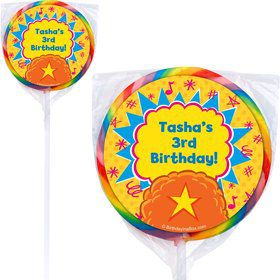 Yo Yo Dance Party Personalized Lollipops (Pack Of 12)