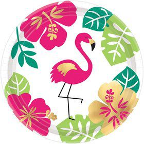 "You had me at Aloha Flamingo 7"" Dessert Plate (8)"