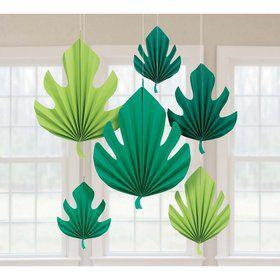 You had me at Aloha Palm Leaf Shaped Fan Decoration