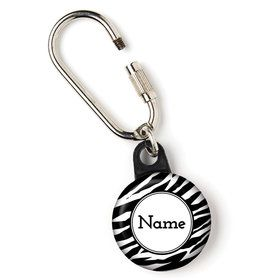 "Zebra Animal Print Personalized 1"" Carabiner (Each)"