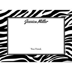 Zebra Animal Print Personalized Thank You (Each)