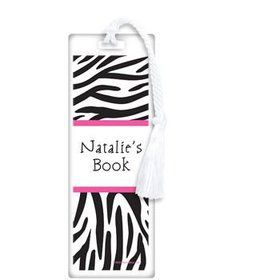 Zebra Party Personalized Bookmark (each)