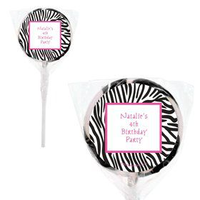 "Zebra Personalized 2"" Lollipops (20 Pack)"