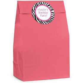 Zebra Personalized Favor Bags (Pack Of 12)