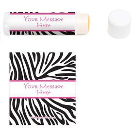 Zebra Personalized Lip Balm (12 Pack)