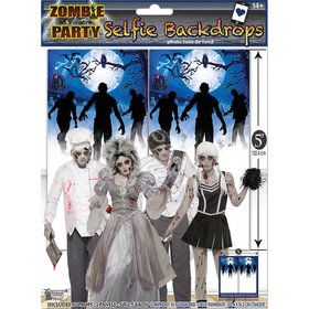 Zombie Party Backdrop (1)