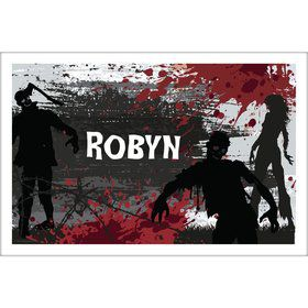 Zombie Personalized Placemat (Each)