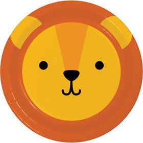 Zoo Animals Lion Dessert Plates (8)