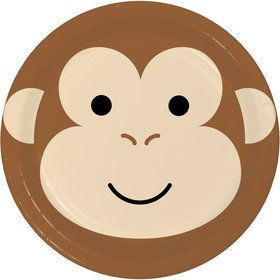 Zoo Animals Monkey Lunch Plates (8)