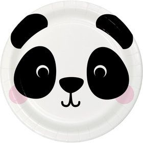 Zoo Animals Panda Dessert Plates (8)