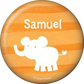 Zoo Babies Party Personalized Button (each)