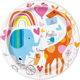 """Zoo Baby Shower 9"""" Lunch Plate (8)"""